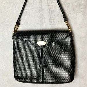 2afe5db2678 Pierre Balmain Vintage Leather Weave Shoulder Bag